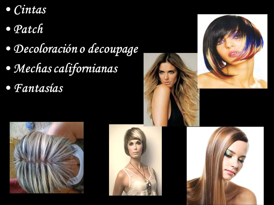 Cintas Patch Decoloración o decoupage Mechas californianas Fantasías