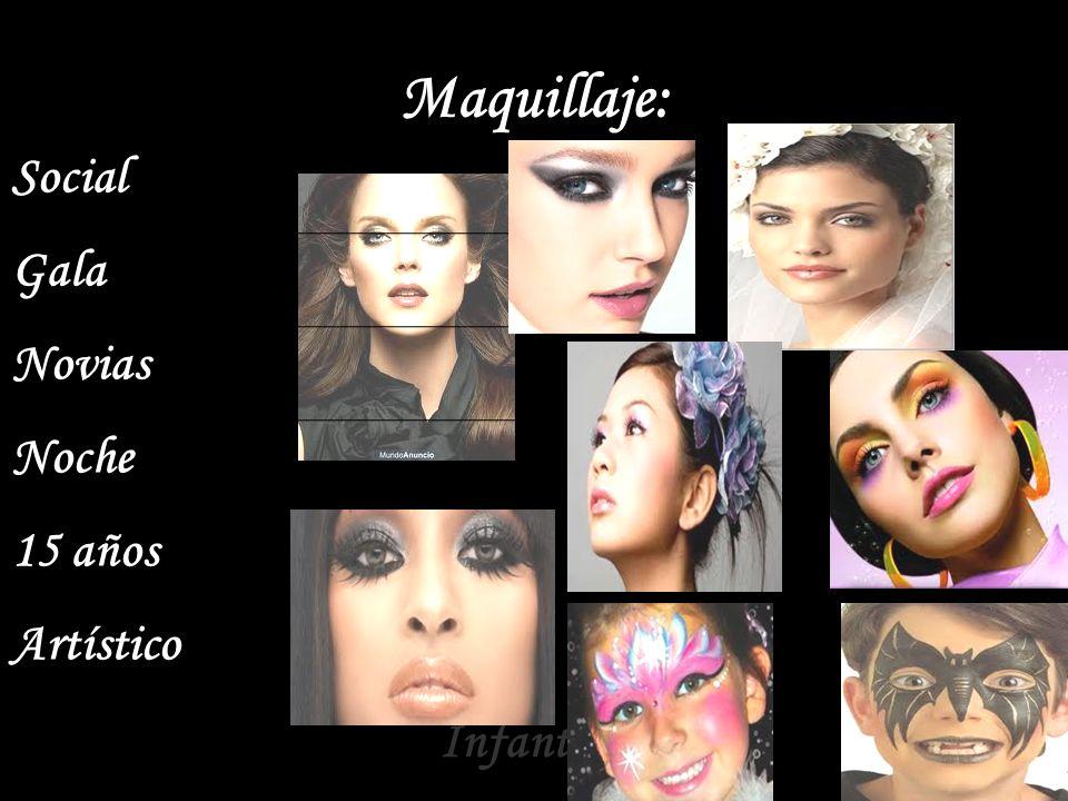 Maquillaje: Social Gala Novias Noche 15 años Artístico Infantiles