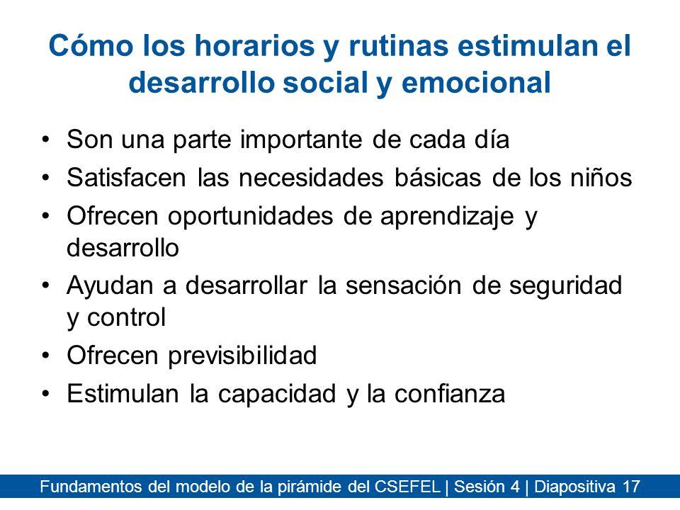 Cómo los horarios y rutinas estimulan el desarrollo social y emocional