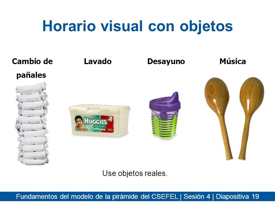 Horario visual con objetos