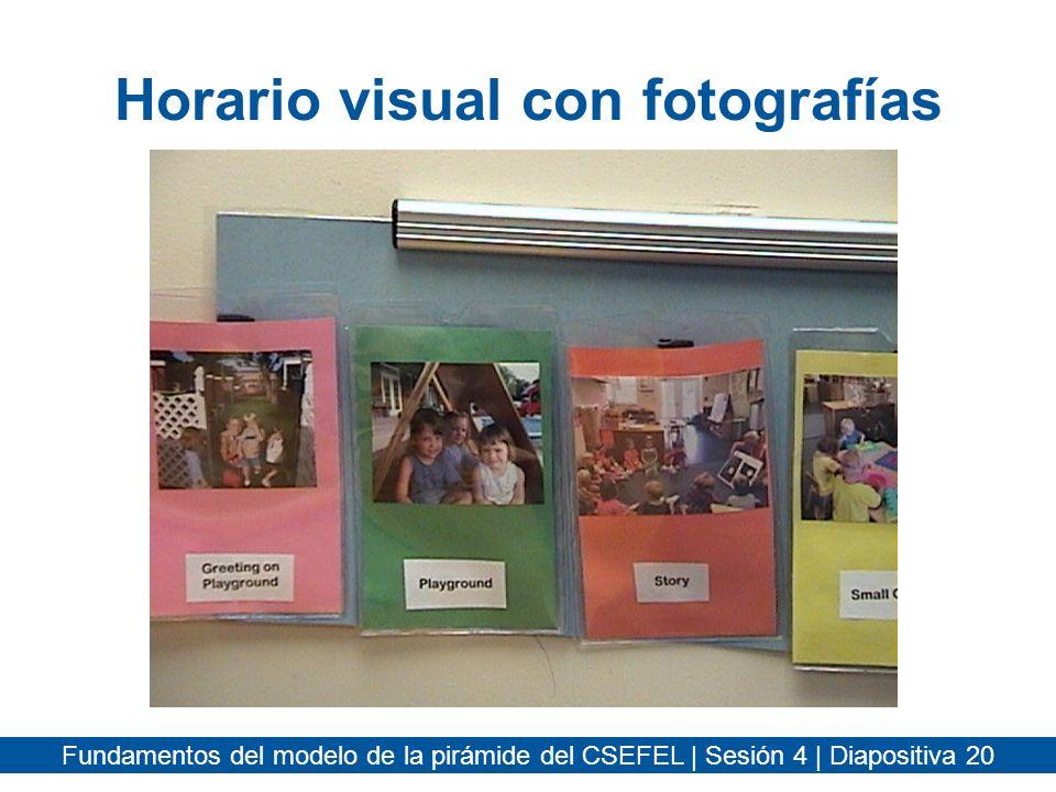 Horario visual con fotografías