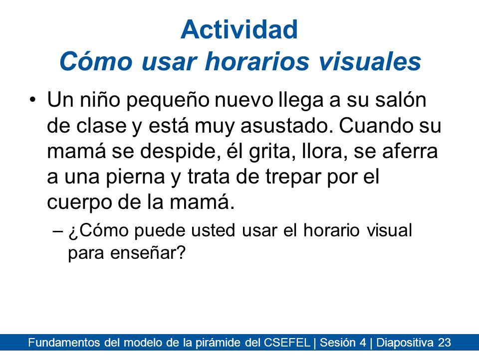 Actividad Cómo usar horarios visuales