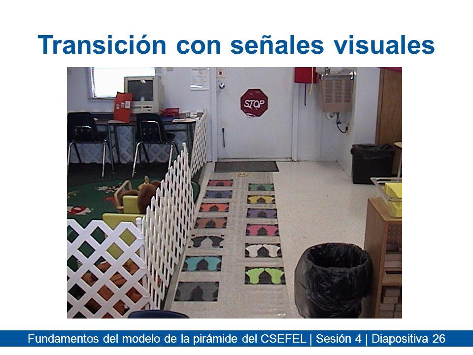 Transición con señales visuales