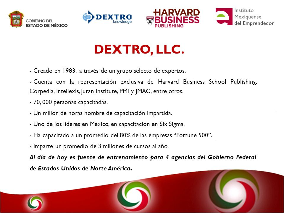 DEXTRO, LLC. Creado en 1983, a través de un grupo selecto de expertos.