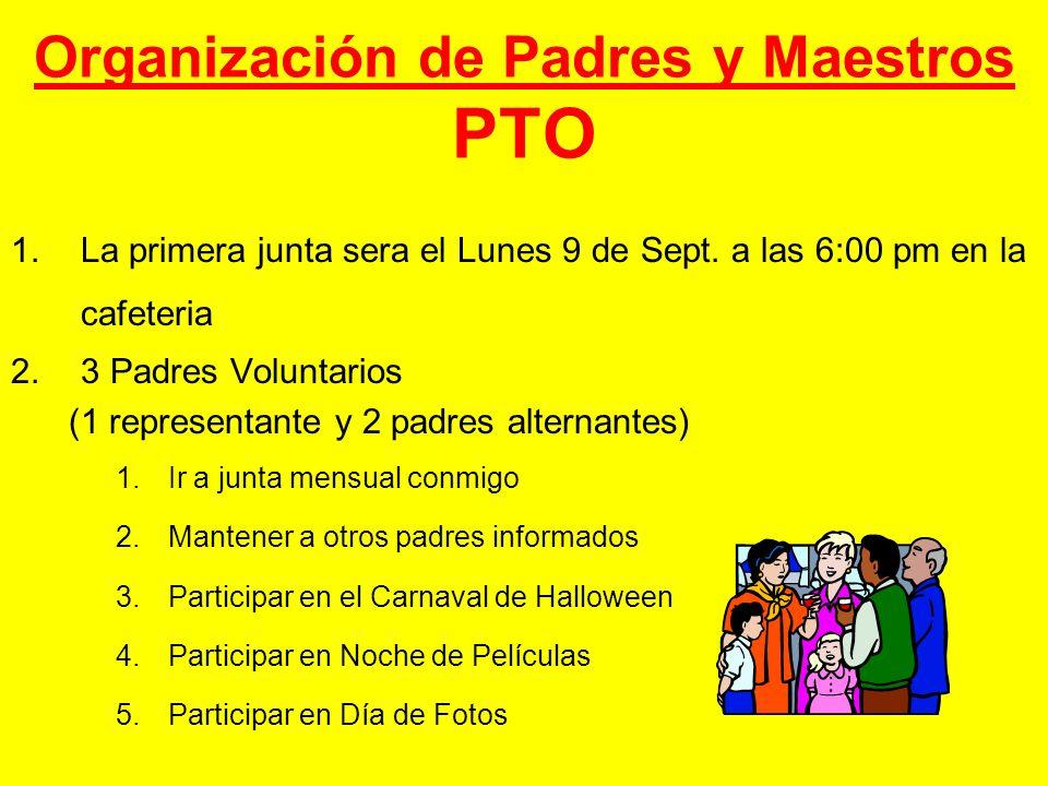 Organización de Padres y Maestros PTO