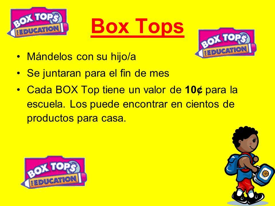 Box Tops Mándelos con su hijo/a Se juntaran para el fin de mes
