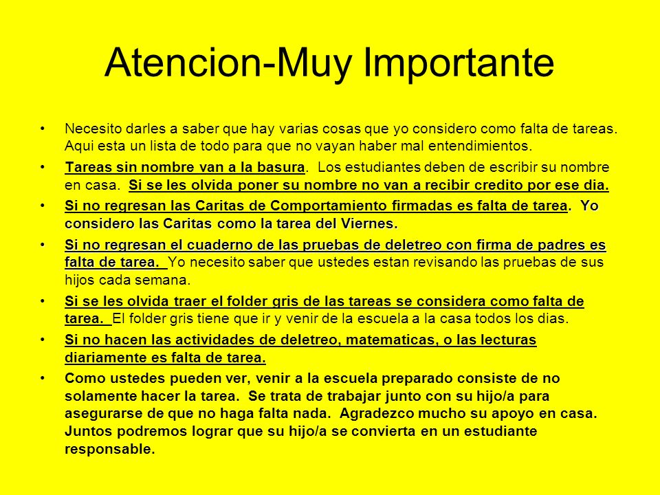 Atencion-Muy Importante