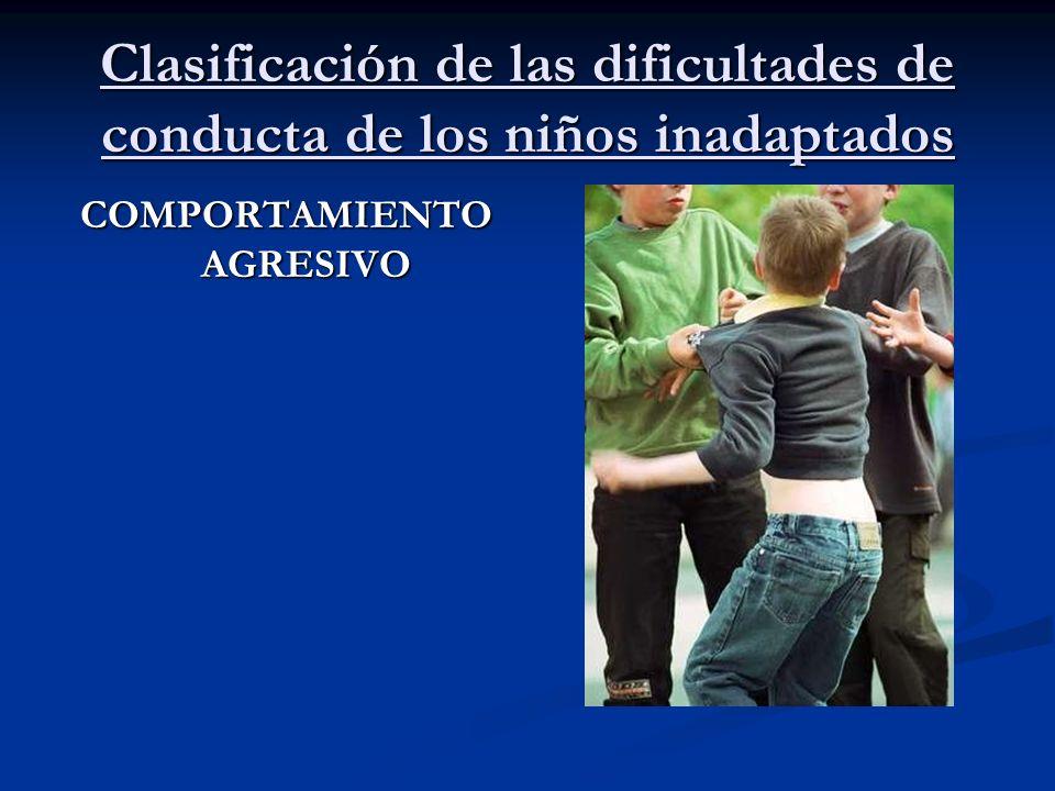 Clasificación de las dificultades de conducta de los niños inadaptados