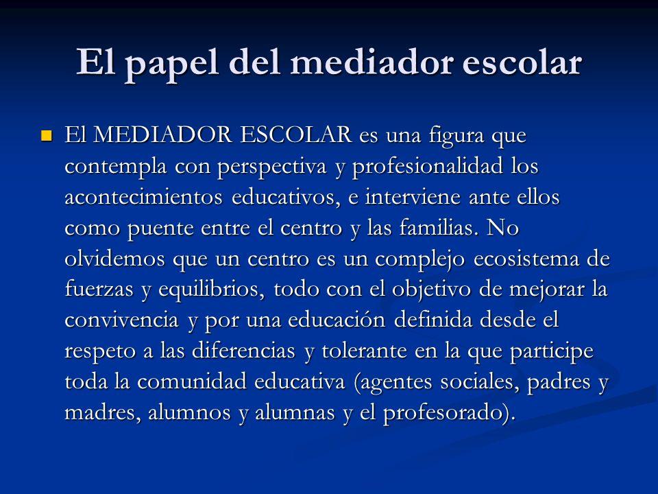 El papel del mediador escolar