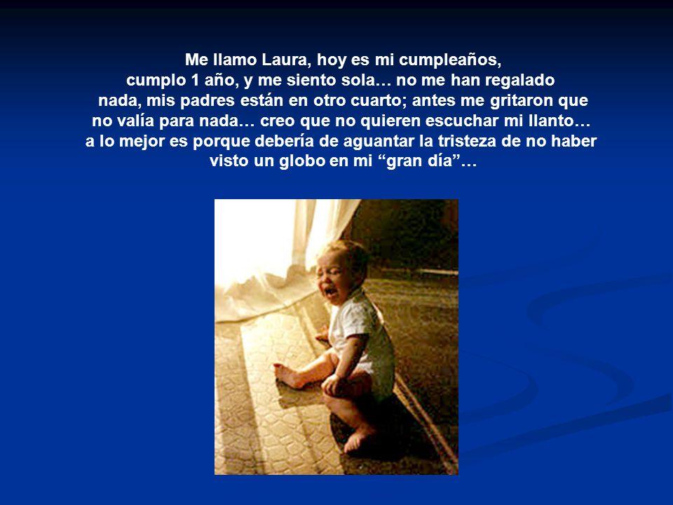 Me llamo Laura, hoy es mi cumpleaños,