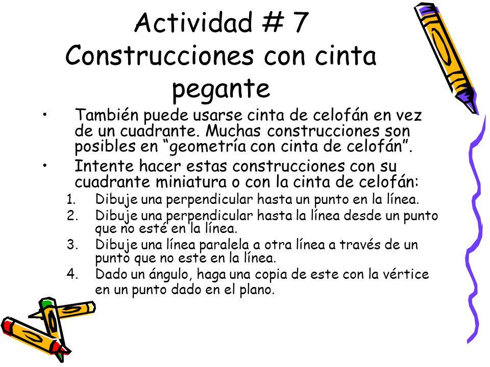 Actividad # 7 Construcciones con cinta pegante