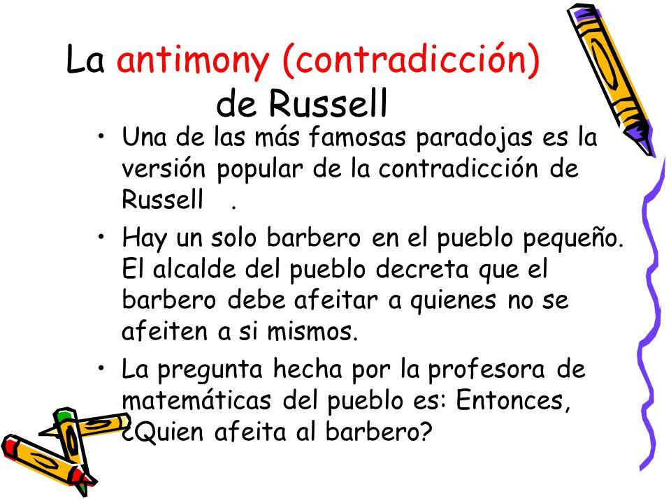 La antimony (contradicción) de Russell