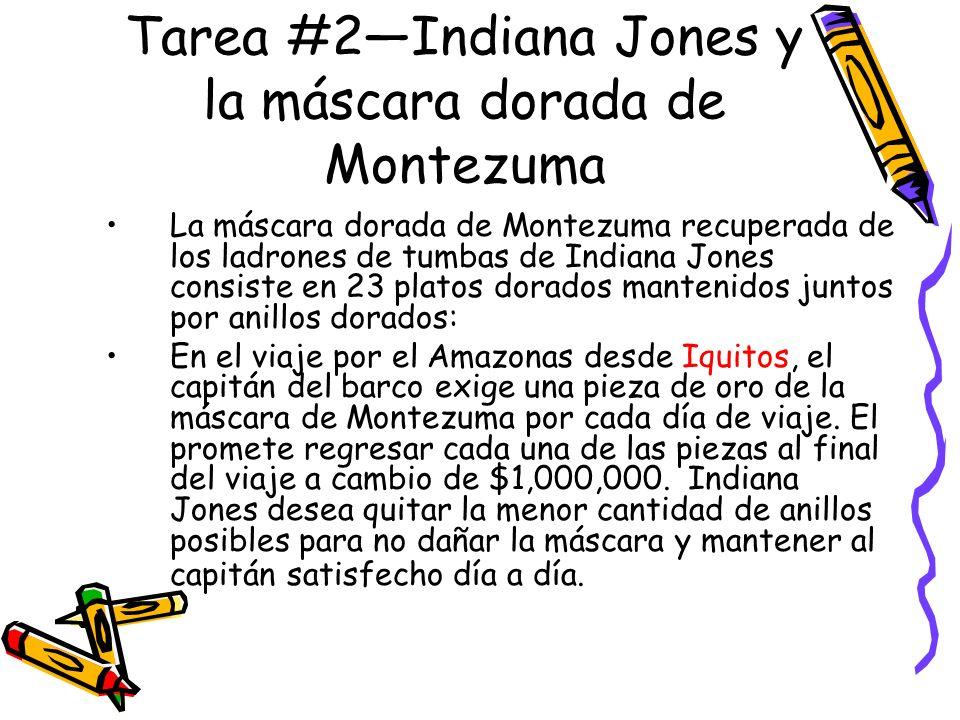 Tarea #2—Indiana Jones y la máscara dorada de Montezuma