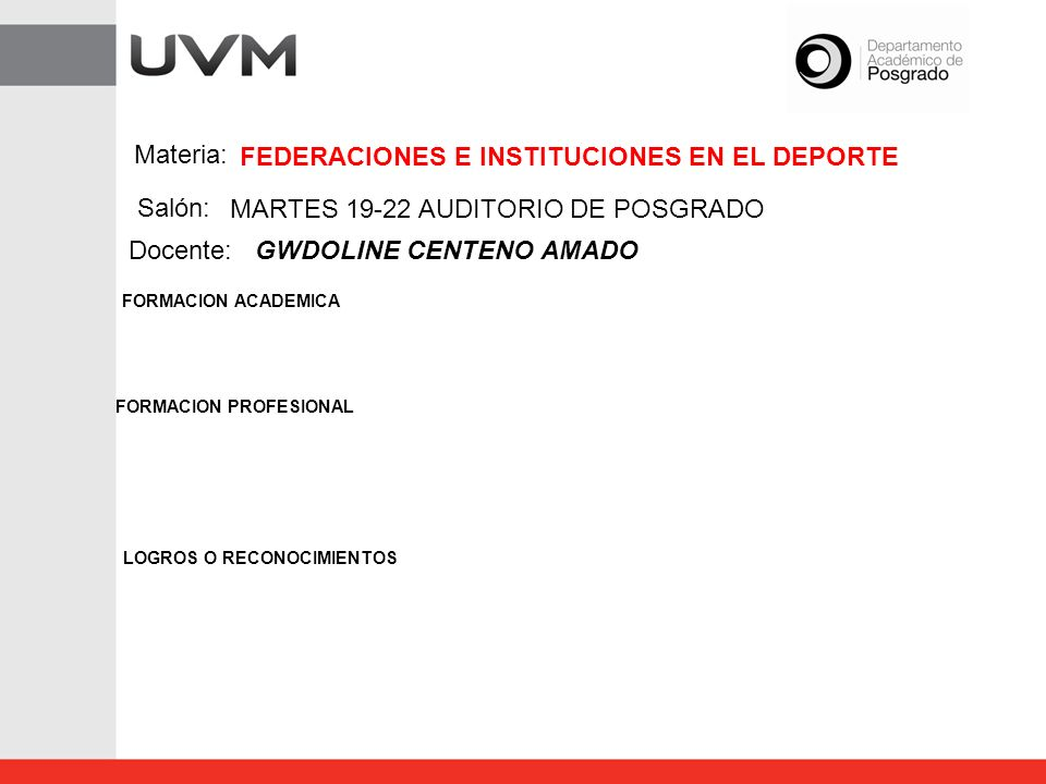 FEDERACIONES E INSTITUCIONES EN EL DEPORTE