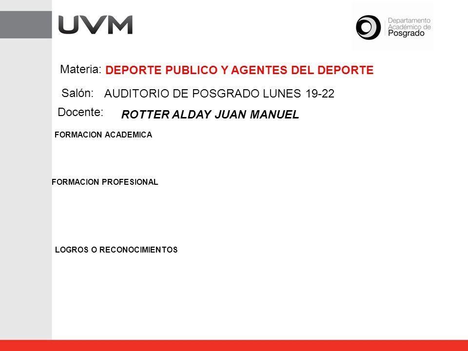 DEPORTE PUBLICO Y AGENTES DEL DEPORTE