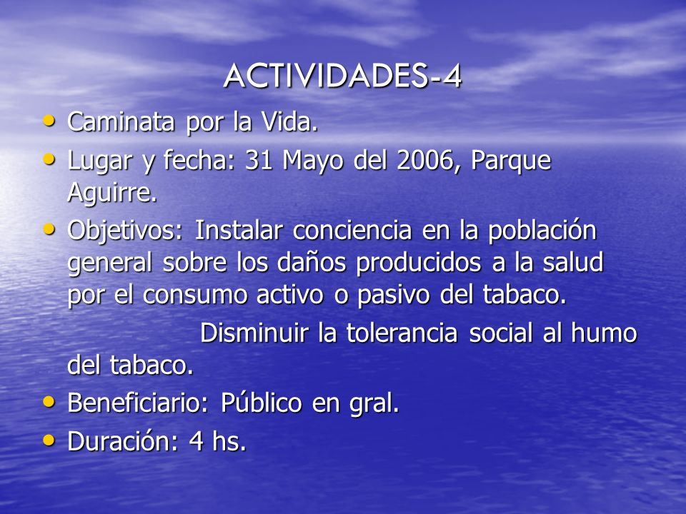 ACTIVIDADES-4 Caminata por la Vida.