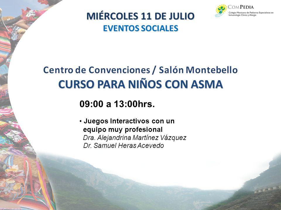 Centro de Convenciones / Salón Montebello CURSO PARA NIÑOS CON ASMA