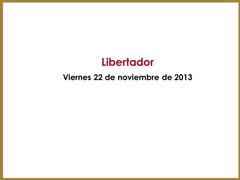 Viernes 22 de noviembre de 2013
