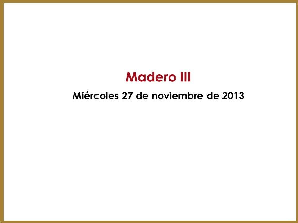 Miércoles 27 de noviembre de 2013