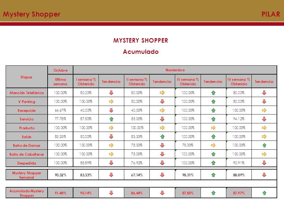 Mystery Shopper PILAR