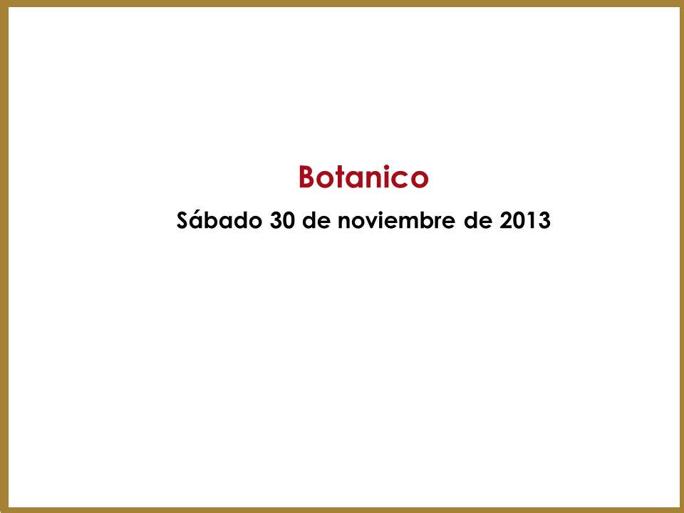 Botanico Sábado 30 de noviembre de 2013 9