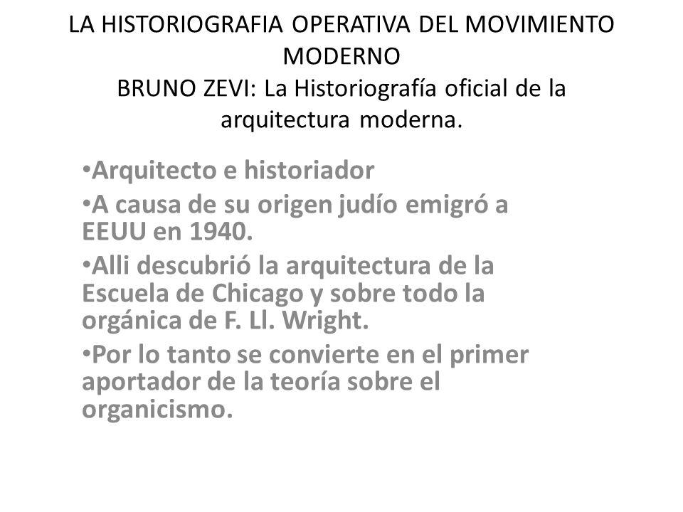 Arquitecto e historiador