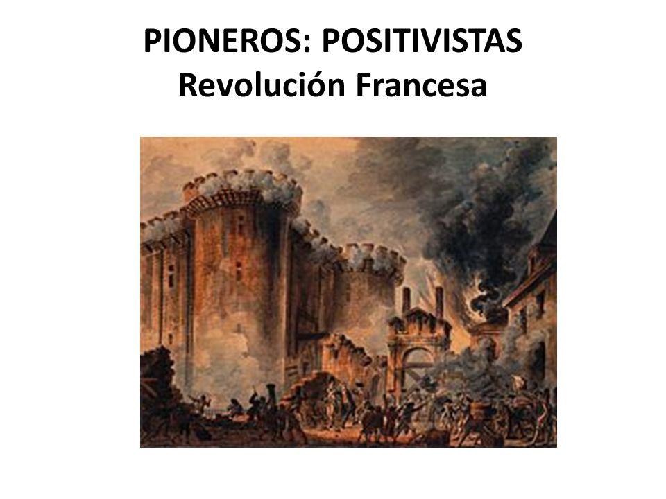 PIONEROS: POSITIVISTAS Revolución Francesa