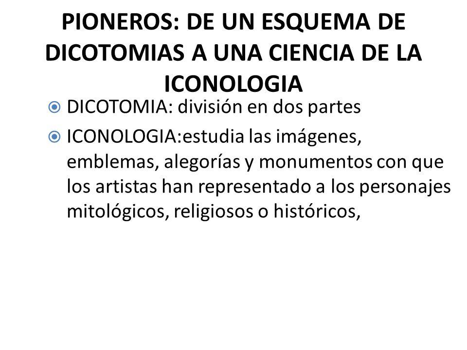 PIONEROS: DE UN ESQUEMA DE DICOTOMIAS A UNA CIENCIA DE LA ICONOLOGIA