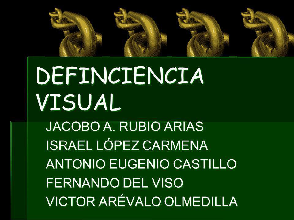 DEFINCIENCIA VISUAL JACOBO A. RUBIO ARIAS ISRAEL LÓPEZ CARMENA