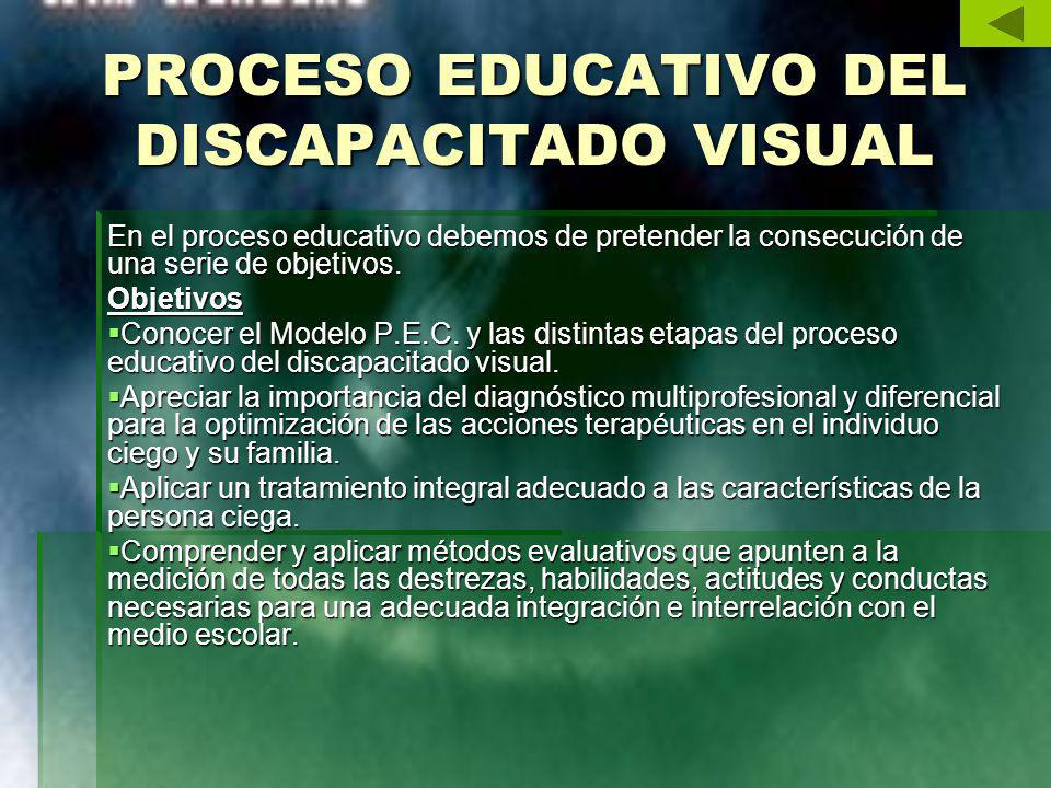 PROCESO EDUCATIVO DEL DISCAPACITADO VISUAL