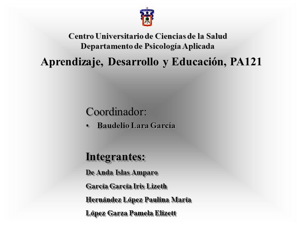 Aprendizaje, Desarrollo y Educación, PA121