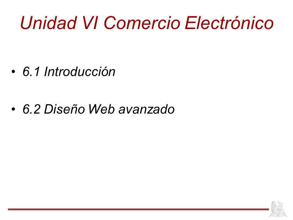 Unidad VI Comercio Electrónico