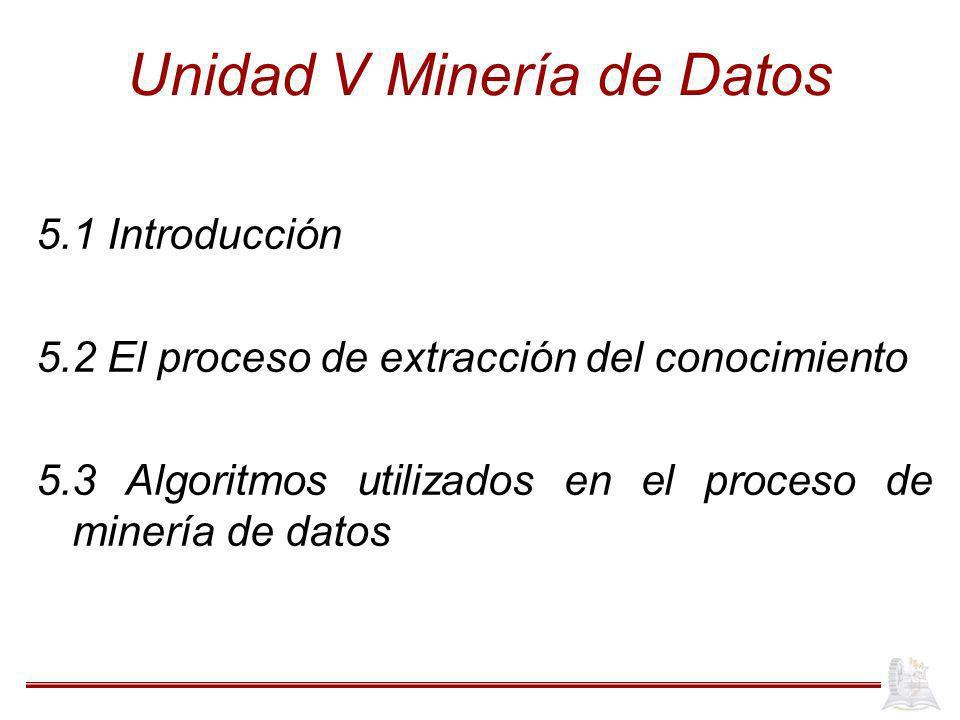Unidad V Minería de Datos