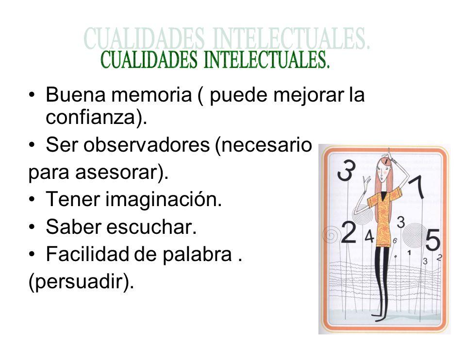 CUALIDADES INTELECTUALES.