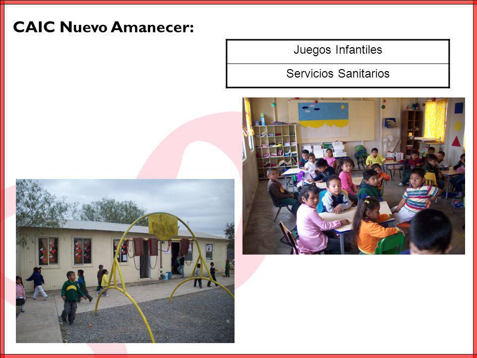 CAIC Nuevo Amanecer: Juegos Infantiles Servicios Sanitarios