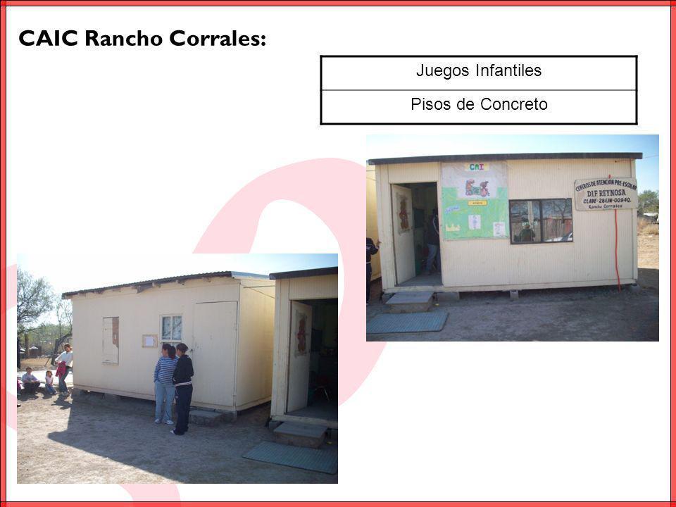 CAIC Rancho Corrales: Juegos Infantiles Pisos de Concreto