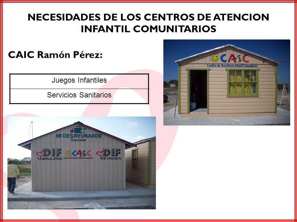 NECESIDADES DE LOS CENTROS DE ATENCION INFANTIL COMUNITARIOS