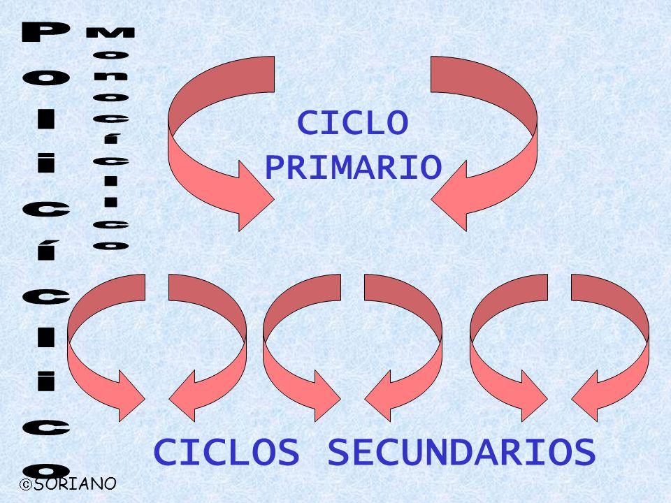 CICLO PRIMARIO Monocíclico Policíclico CICLOS SECUNDARIOS SORIANO