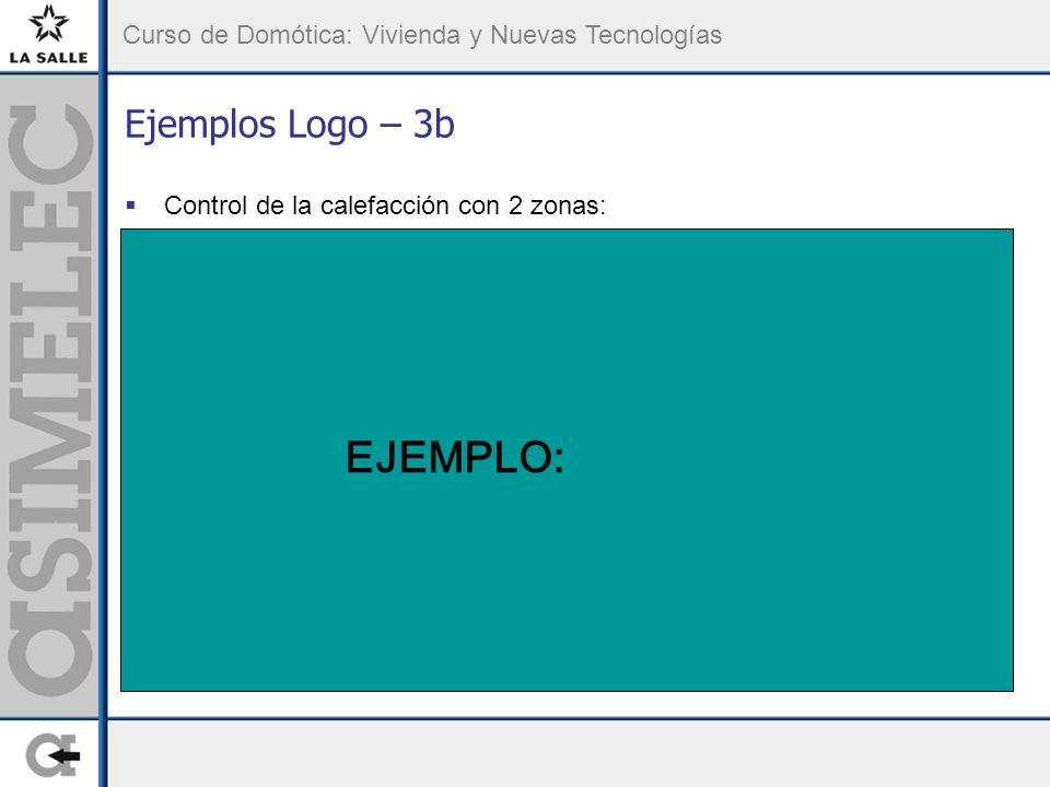 Ejemplos Logo – 3b Control de la calefacción con 2 zonas: EJEMPLO: