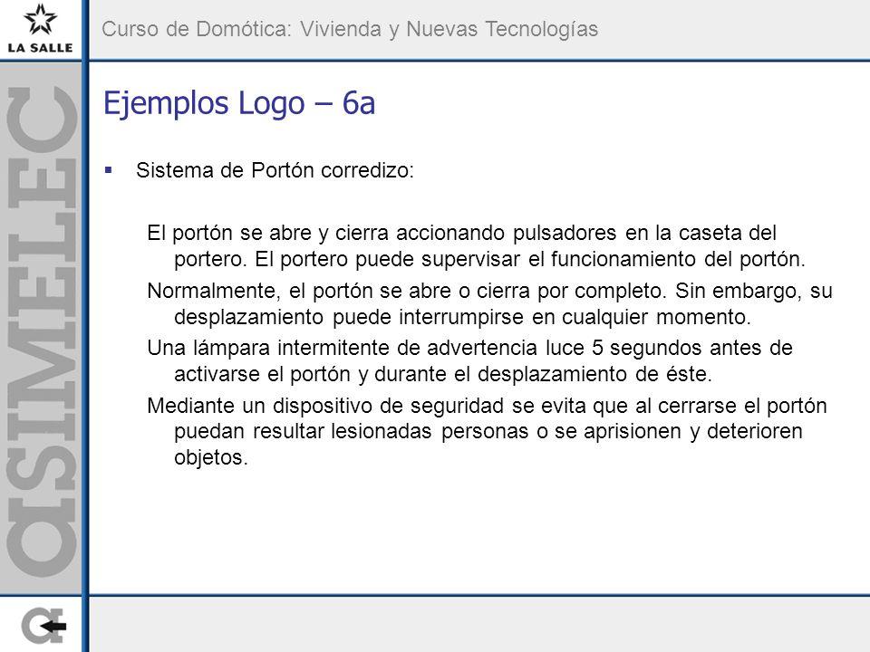 Ejemplos Logo – 6a Sistema de Portón corredizo: