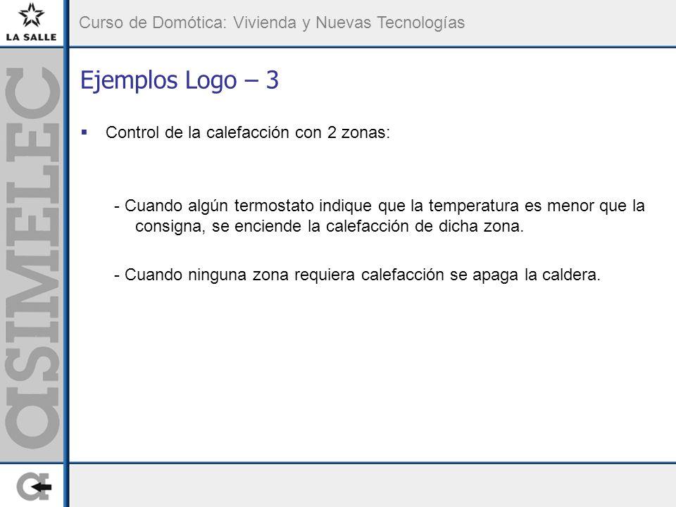 Ejemplos Logo – 3 Control de la calefacción con 2 zonas: