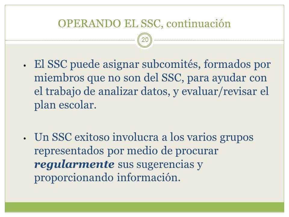 OPERANDO EL SSC, continuación