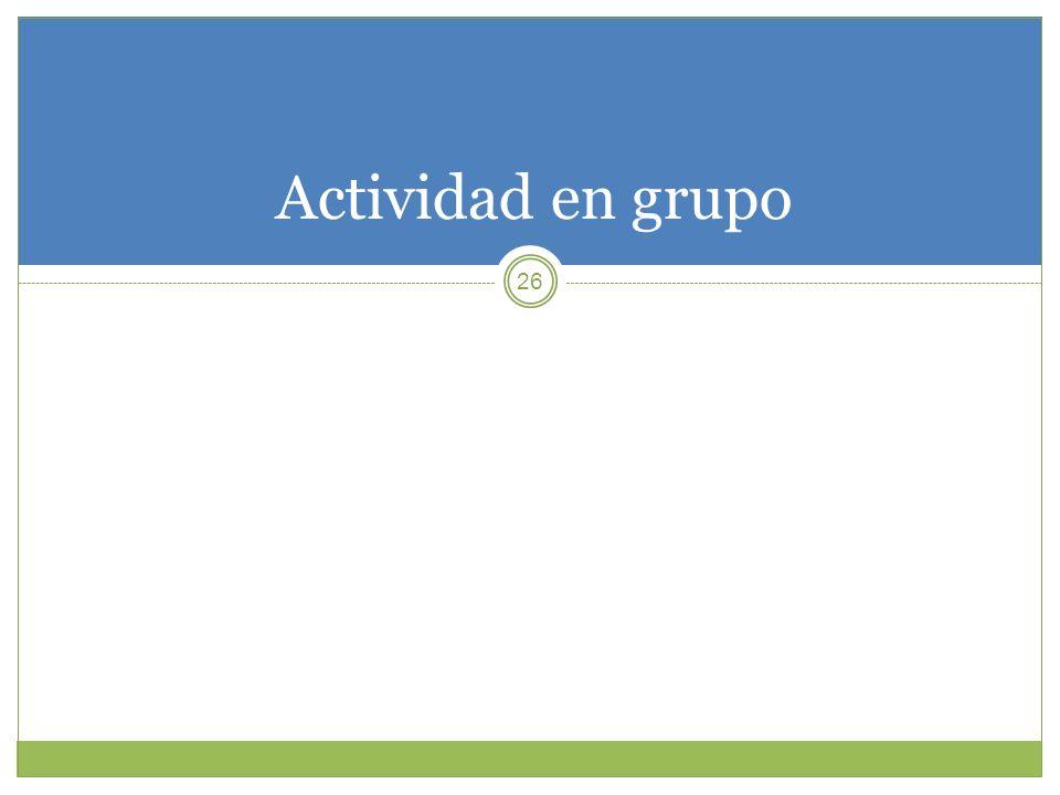 Actividad en grupo