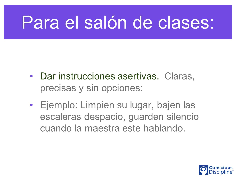 Para el salón de clases: