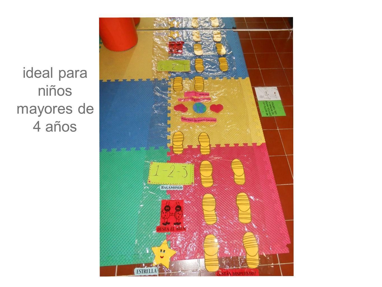 ideal para niños mayores de 4 años