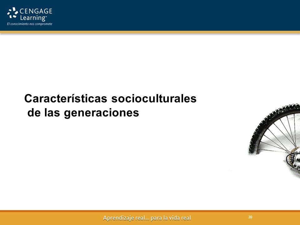 Características socioculturales de las generaciones