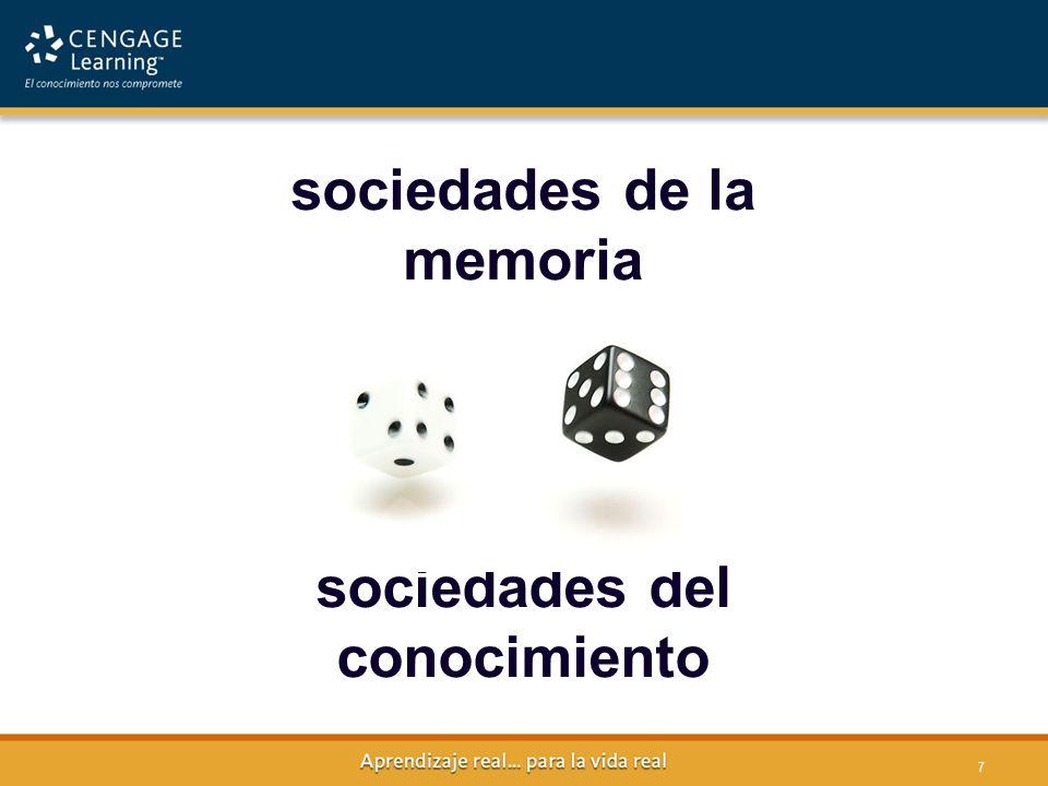 sociedades de la memoria sociedades del conocimiento