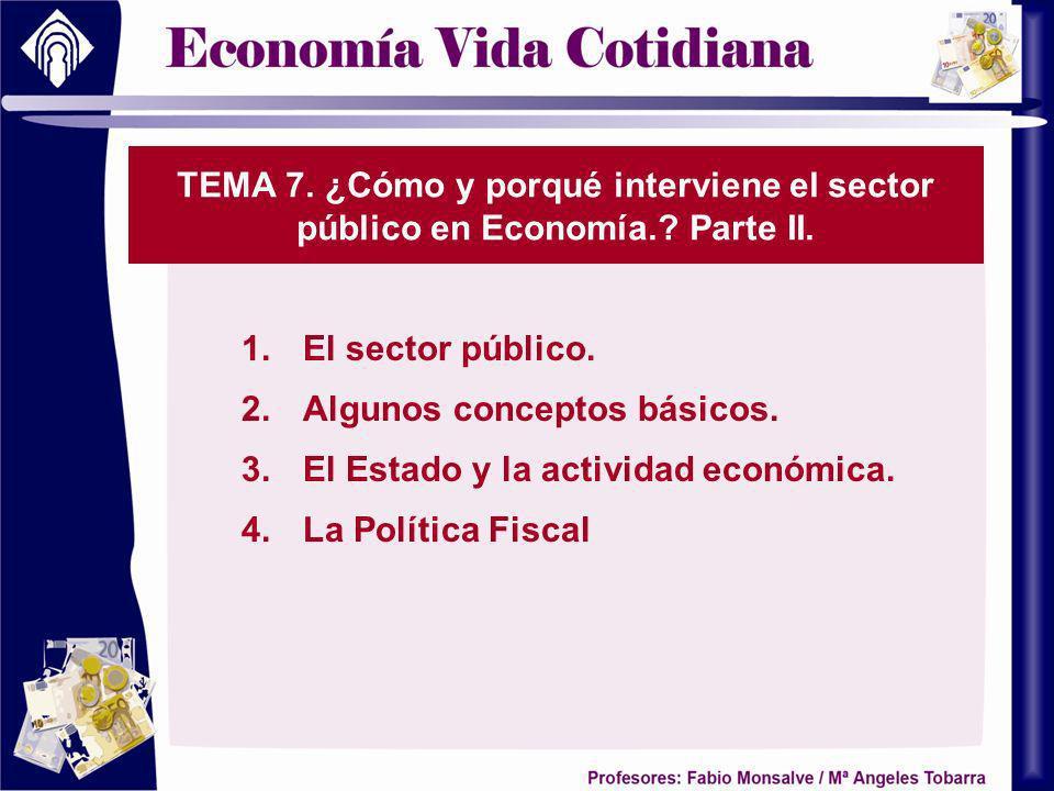 TEMA 7. ¿Cómo y porqué interviene el sector público en Economía