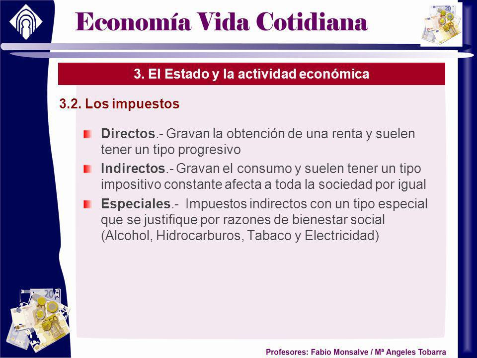 3. El Estado y la actividad económica