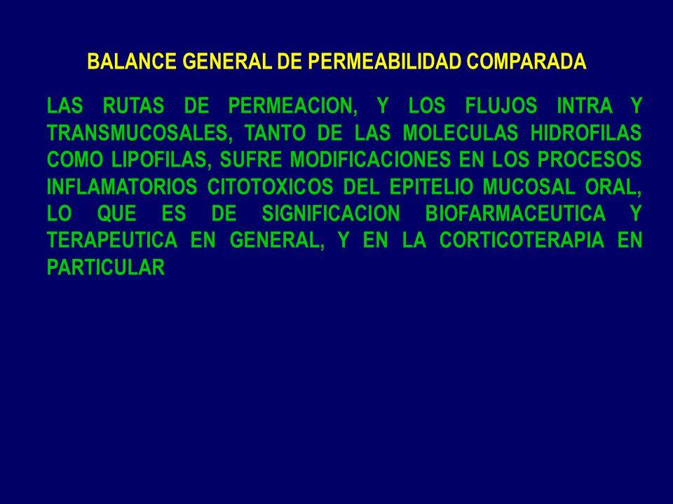 BALANCE GENERAL DE PERMEABILIDAD COMPARADA